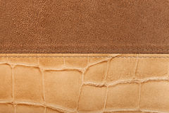 Leather background with seam Royalty Free Stock Photos