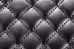 Leather background with stitching Stock Photography