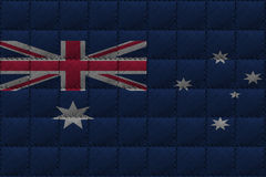 Leather background or texture with blending  Australia flag Royalty Free Stock Photo