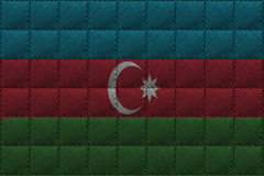 Leather background or texture with blending  Azerbaijan flag Stock Photos