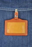 Leather badge Royalty Free Stock Image
