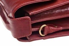 Leather bag. Leather bag side closeup view - horizontal orientation Stock Photos