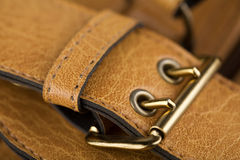 Leather bag accessories Royalty Free Stock Photos
