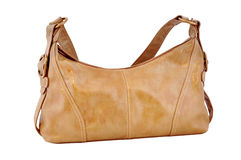 Leather bag brown Royalty Free Stock Images