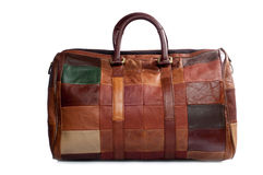 Leather Bag for business travel. Royalty Free Stock Photo