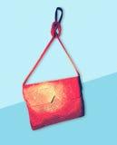 Leather Bag clutch flat design illustration Stock Photo