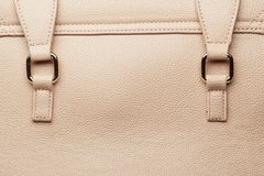 Leather bag detail Royalty Free Stock Photo