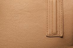 Leather bag detail Stock Photos