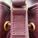 Leather bag detail. Stitched detail from a fashionable bag Stock Photos