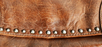 Leather bag detail Royalty Free Stock Photos