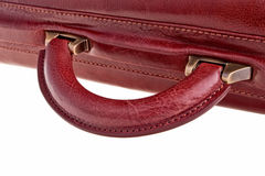 Leather bag handle. Leather bag handle over white background Royalty Free Stock Photography