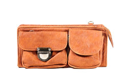 Leather bag isloated Stock Photo