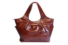 Leather bag isolated Stock Images