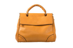 Leather bag. Isolated on white background Royalty Free Stock Photo