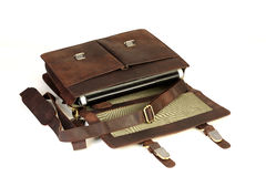Free Leather Bag On White Royalty Free Stock Images - 57923989