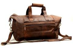 Free Leather Bag On White Royalty Free Stock Photos - 57924848