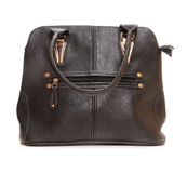 Leather bag. On white background Stock Photo