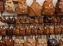 Leather bags Stock Photo