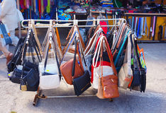 Leather bags Royalty Free Stock Image