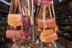 Leather bags Royalty Free Stock Photos