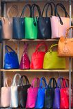 Leather bags Stock Photos