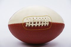 Leather ball for rugby game isolated on white background. A ball for American football. Leather ball for rugby game isolated on white background. A ball for royalty free stock photos