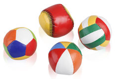 Leather ball toys Royalty Free Stock Photography
