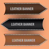 Leather banners eps10. Brown and black leather banners eps10 Royalty Free Illustration