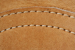 Leather baseball glove macro background Royalty Free Stock Photos