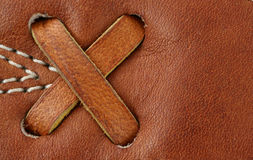 Leather baseball glove macro background Royalty Free Stock Photo
