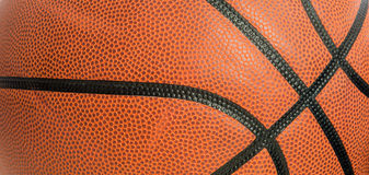 Leather basketball as a background Royalty Free Stock Photos