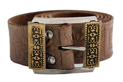 Leather belt. Woven brown leather belt isolated on white Royalty Free Stock Image