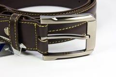 Leather belt. On white background Stock Photo