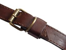 Leather belt. A leather belt fragment Stock Photography