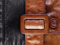 Leather with a belt background Royalty Free Stock Photography