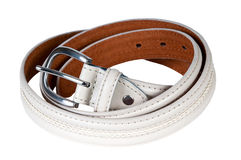 Leather belt. Beautiful and the leather belt Stock Photos