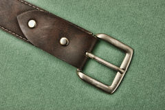 Leather belt with a buckle Royalty Free Stock Photo