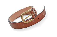 Leather belt -Clipping Path Royalty Free Stock Photo