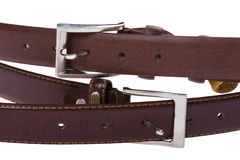 Leather belt close up Royalty Free Stock Photography