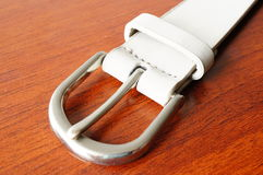 Leather belt closure Stock Photos