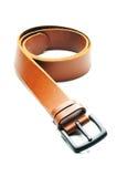 Leather belt. Isolate on white background Stock Photo
