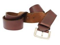 Leather Belt Isolated on White Background Stock Images