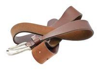 Leather Belt Isolated on White Background Royalty Free Stock Photos