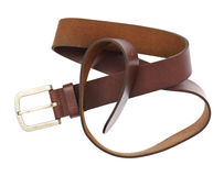 Leather Belt Isolated on White Background Stock Photography