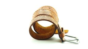 Leather belt isolated Stock Images