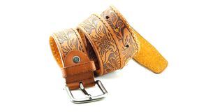 Leather belt isolated Stock Photography