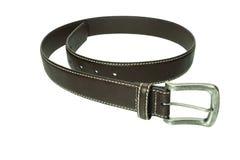 Leather belt isolated on white background Stock Photos