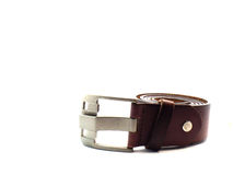 Leather belt on isolated Stock Photos