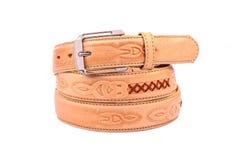 Leather belt.Isolated on white Stock Images