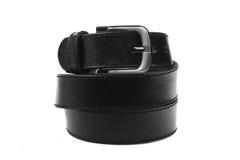 Leather belt.Isolated on white Stock Photography